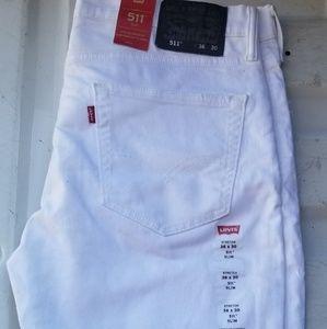 Levi's 511 White Jeans BRAND NEW